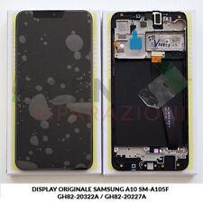 DISPLAY LCD TOUCH SCREEN ORIGINALE SAMSUNG GALAXY A10 2019 SM-A105F NERO BLACK