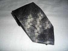 KR1576 Enrico Mori Krawatte 100% Seide Grautöäne Blautöne Schwarz Karos 154cm Gu
