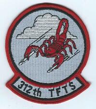 USAF AIR FORCE PATCH  312th TACTICAL FIGHTER TRAINING SQUADRON
