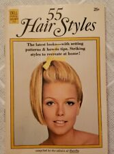 Vintage Dell Purse Book 1969 55 Hair Styles pictures with curler diagrams
