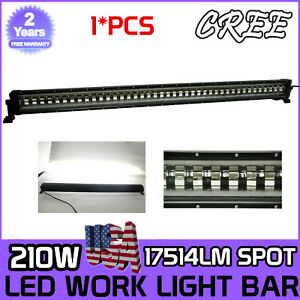 """46"""" 210W LED Strobe Flash 9D Work Light Bar for JEEP Ford Offroad Driving Truck"""