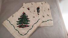 "Set of 4 Spode Christmas Tree 18 1/2"" Napkins - Ivory Background"