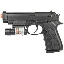 M9 92 FS BERETTA SPRING AIRSOFT PISTOL HAND GUN w/ LASER SIGHT 6mm BB BBs