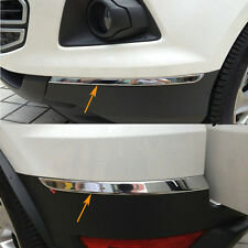 Chromed 4PCS Front+Rear Bumper Corner Protector Trim For Ford Ecosport 2013-16