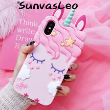 3D Cartoon Pretty Pink Unicorn Soft Silicone Case For Samsung Galaxy Phone Cover