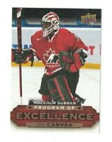 Malcolm Subban 2015-16 Upper Deck PROGRAM OF EXCELLENCE CANVAS Rookie BLACKHAWKS