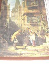 (Pgasteelers1) Italian fabric wall calender 1984 senic view
