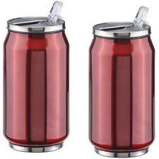 2x Stainless Steel Car Mug Insulating Mug Thermo Cup Mug Coffee Cup 300ml Red