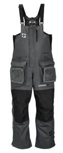 StrikerIce Predator Series Bib Overalls, Ice Fishing, Gray/Black, 3XL
