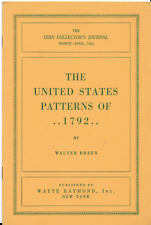 16 PAGE PAMPHLET THE UNITED STATES PATTERNS OF 1792 BY WALTER BREEN 1954