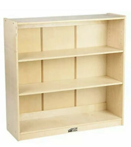ECR4Kids Birch Wood Bookcase Shelf Organizer for K (B1C)