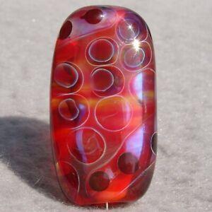 VULCAN Handmade Art Glass Focal Bead Flaming Fools Lampwork Art Glass SRA