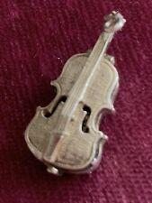 Vintage Silver Miniature Cello Charm (opens)