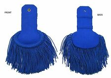 Epaulette Marching Band Shoulder Boards with Fringe in Silk Royal Blue R1633