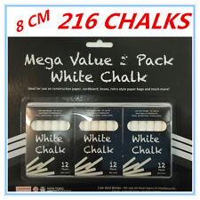 216 X WHITE COLOUR ONLY WASHABLE CHALK CHALKS MEGA VALUE KID CRAFT DRAW GIFT AP
