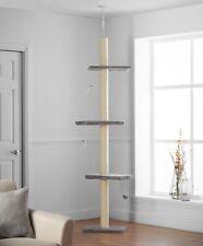 Pippa & Max's Cat Scratch Tree Floor to Ceiling 215cm-280cm (Grey)