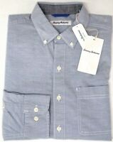 NEW $110 Tommy Bahama Long Sleeve Mens Billfish Blue Shirt Oxford Isles Stretch