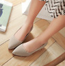 Women Wedge Increased Heel Pointed Toe Slip On Casual Comfort Ballet Single Flat