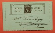 DR WHO 1901 CEYLON LETTER CARD STATIONERY  183305