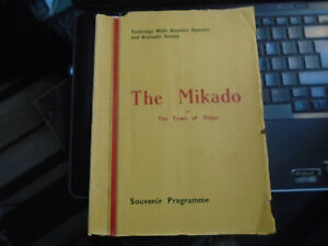 1948 Tunbridge Wells Amateur Operatic Dramatic Soc The Mikado Gilbert & Sullivan