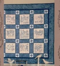 Snow Much Fun Quilt - fun stitchery & pieced quilt PATTERN - Bird Brain