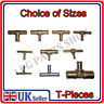 METAL BRASS ALUMINIUM T PIECEs FUEL LINE HOSE PIPE JOINER UNION Connector water