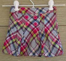 Gymboree Outlet Smart And Sweet Girls 3 Plaid Flannel SKORT Pink Blue