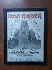 IRON MAIDEN TOUR DATES  FRAMED ORIGINAL ADVERT  POSTER SIZE 8 SEP 1984