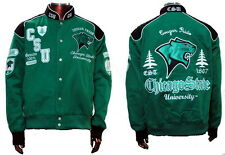 NEW! Chicago State University Cougars Fraternity Twill Button Up Racing Jacket