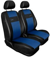 Front seat covers fit Volkswagen Lupo black/blue  Leatherette