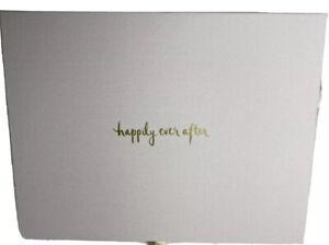 Kate Spade  Wedding Happily Ever After Keepsake Thank You Card Box