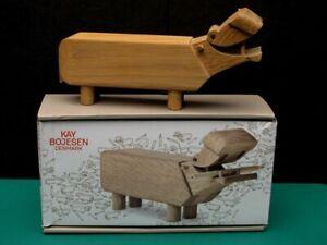 Kay Bojesen Vintage Hippo Toy Oak Wood Hand Made in Original Box