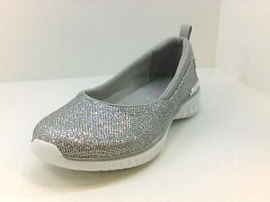 Skechers Women's Shoes wdw2m9 Loafer, Mocassin & Slip-On, Silver, Size 9.0 oLU8