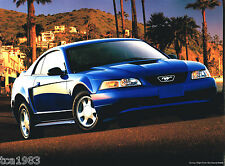 1999 Ford MUSTANG Sales Brochure / Catalog with Color Chart: GT,CONVERTIBLE,