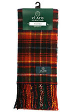 NEW Scottish Tartan Clan Scarf Innes Red Modern 100% Wool