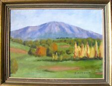"""D. M. PATRICK FRAMED OIL """"VIEW OF COUNTRY LANDSCAPE"""" C 1985"""