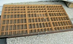 Vintage Full Size Printers Wooden Type Drawer ~ Letterpress Wood Print Tray Case