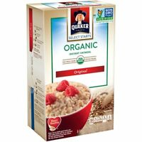 (12 Boxes) Quaker Organic Original Instant Oatmeal Breakfast Food Cereal 8 Count