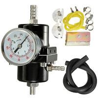 Universal Adjustable 0-140 PSI Car Fuel Pressure Regulator Gauge Hose Kit Set