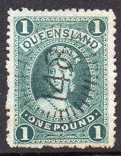 Queensland SG156 £1 Deep Green
