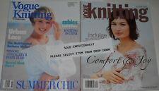 "Vogue Knitting International Magazine Spring/Summer 1989 & Holiday 2003 ""Choice"""