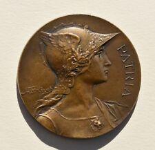 Médaille en Bronze PATRIA signée RIVET – médaille vierge