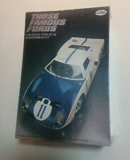 Testors Those Famous Fords 1/25 scale ford gt40- Factory sealed