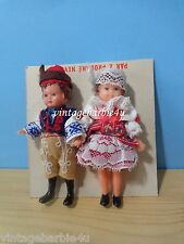 Vintage Antique Rubber Doll Lot Girl Boy Red Folk Art Clothes German Ari friends