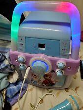 DISNEY FROZEN KARAOKE MACHINE CD PLAYER WITH LIGHTS  No Microphone