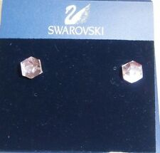 "SWAROVSKI FASHION JEWELLERY ""POINTS OF LIGHT  PIERCED EARRINGS"" ROSE PINK 957046"