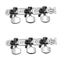 2 Mécaniques pour Guitare Western avec Lyre Nickel LIvré sous Blister Scellé