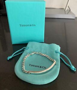 """Near MINT Tiffany & Co. Venetian Link Bracelet Sterling Silver 925 Bag&Box 6.5"""""""