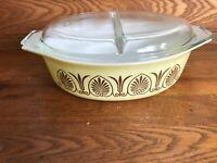 Vintage Pyrex Golden Classic 1962 Promotional Covered 2.5 Qt Casserole Dish 045