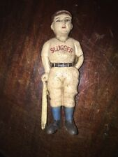 Cast Iron Piggy Bank Antique Style Baseball Babe Ruth Vintage Style Desk Piece G